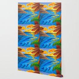 Palm Island Sunrise Wallpaper
