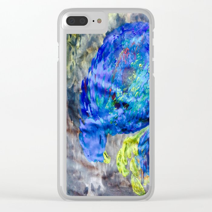 When You Just Need to Sleep Curl Up, Blue Phoenix Clear iPhone Case