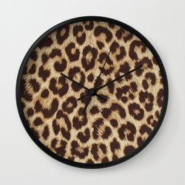 Leopard Pattern - Cheetah Pattern Wall Clock