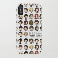 robert downey jr iPhone & iPod Cases featuring Robert Downey Jr. by Lady Cibia