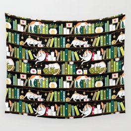 Library cats Wall Tapestry