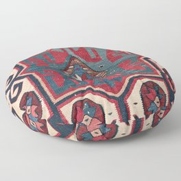 Cartouche Star II // 19th Century Colorful Red Blue Western Santa Fe Cowboy Style Ornate Accent Patt Floor Pillow
