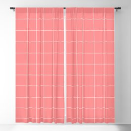 Abstraction_LINES_CORAL_Minimalism_001 Blackout Curtain