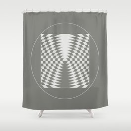 extraterrestrial crop circle, sacred geometry Shower Curtain