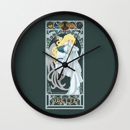 Odette Nouveau - Swan Princess Wall Clock
