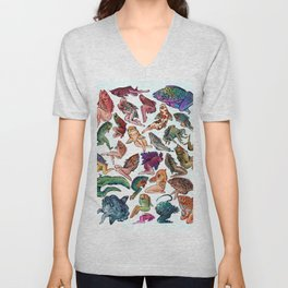 Reverse Mermaids Unisex V-Neck
