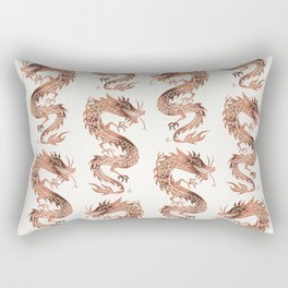 Chinese Dragon – Rose Gold Palette Rectangular Pillow