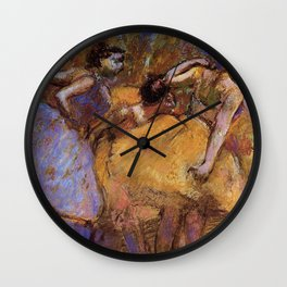 Dancers 4 By Edgar Degas | Reproduction | Famous French Painter Wall Clock