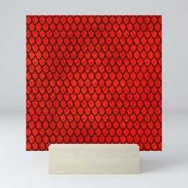 Mermaid Scales - Red Mini Art Print