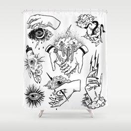 Hand of God Shower Curtain
