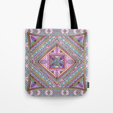 Sweet Funky Retro Mandala Tote Bag