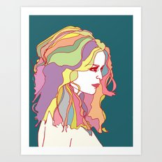 Big Hair day Art Print