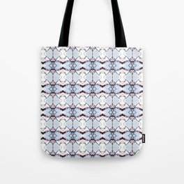 red Malus Radiant crab apple blossoms #7 pattern Tote Bag