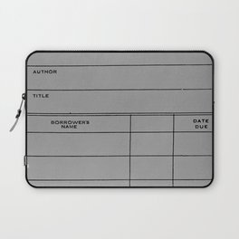 Library Card BSS 28 Gray Laptop Sleeve