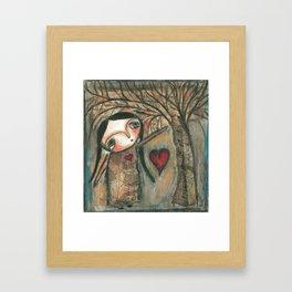 Winter love Framed Art Print
