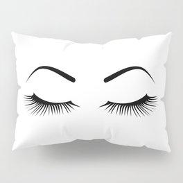 Closed Eyelashes (Both Eyes) Pillow Sham
