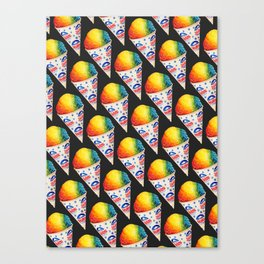Snow Cone Pattern Canvas Print