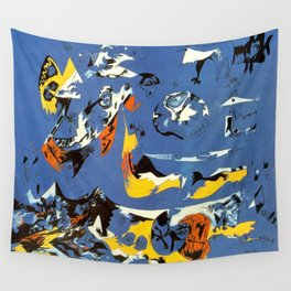 Blue (Moby Dick), 1943 by Jackson Pollock Wall Tapestry