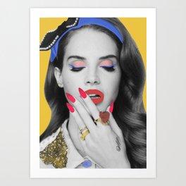 Lana popart Art Print