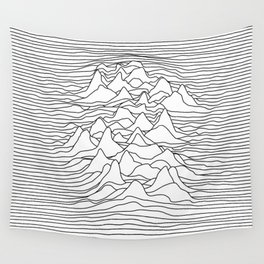 Black and white graphic - sound wave illustration Wall Tapestry