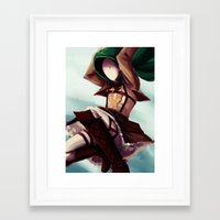 snk Framed Art Prints featuring SNK!Cry by Kiwa