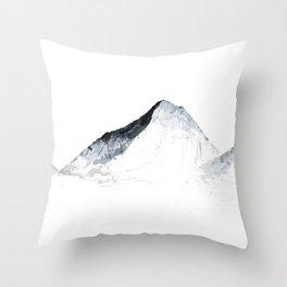 MOUNT EVEREST mountainsplash grey Throw Pillow