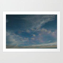 Cloudy Contrail Art Print