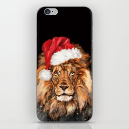 Christmas King Lion iPhone Skin