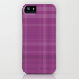 Shades of Purple Plaid Like Pattern iPhone Case