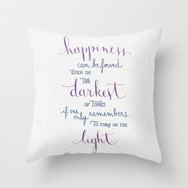 Happiness can be found Throw Pillow