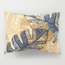 jungle tangle – navy, blush, gold Pillow Sham