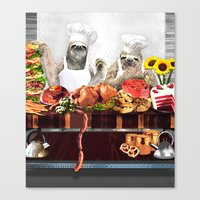 sloths Canvas Prints featuring Sloths by Big AL