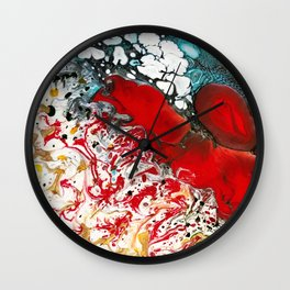Abstract Field of Flowers - Vulpecula Wall Clock
