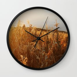 Out In The Fields Wall Clock