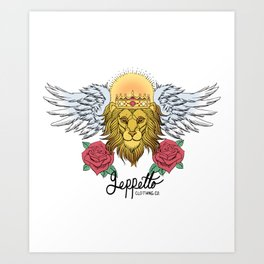 Geppetto Lion King Art Print