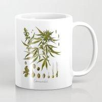 cannabis Mugs featuring Cannabis by jbjart