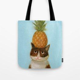 Pineapple Cat Tote Bag