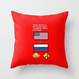 Made America 4 the Fascist Again Throw Pillow