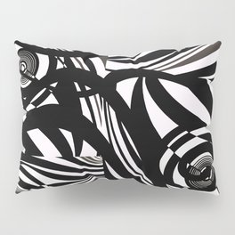 Love in Black and White Twists and Turns Pillow Sham