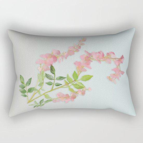 Pink Tiny Flowers Rectangular Pillow