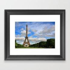 Eiffel Tower Day Framed Art Print