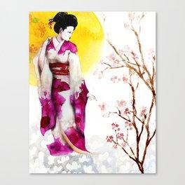 Sunset Geisha Canvas Print