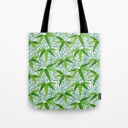 William Morris Bamboo Print, Green and White Tote Bag
