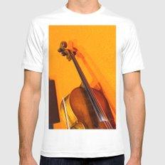 Violin on the Floor Mens Fitted Tee White MEDIUM