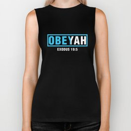Obeyah Obey Yah God Christian Hebrew Roots Movement Biker Tank