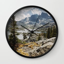 Partly Cloudy Afternoon in the Eastern Sierra Wall Clock
