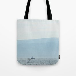 Boat & Mountain Tote Bag