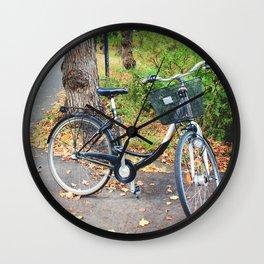 Autumn Bikes Wall Clock