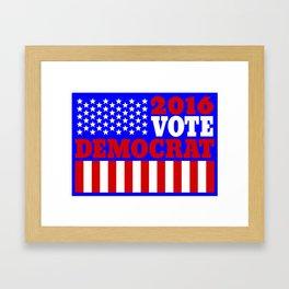 Vote Democrat  Framed Art Print