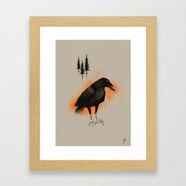 Raven from Blackforest Framed Art Print